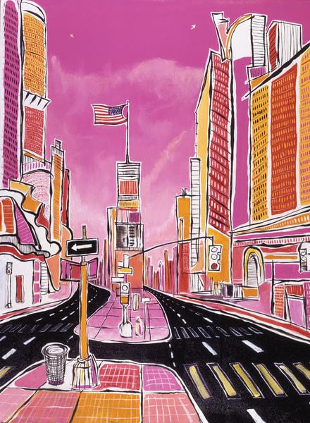 Pink Times Square  Art | Sandy Garnett Studio