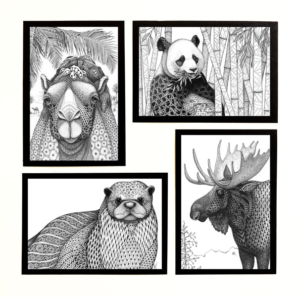 "Wildlife Collection | Kristin Moger ""Seriously Fun Art"""