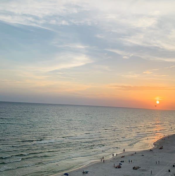 Panama City Beach Sunset 3 Art | Nisha Strain
