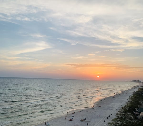Panama City Beach Sunset 4 Art | Nisha Strain