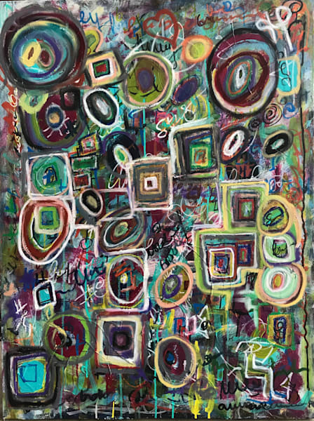 Circle Takes The Square Art | Abstraction Gallery by Brenden