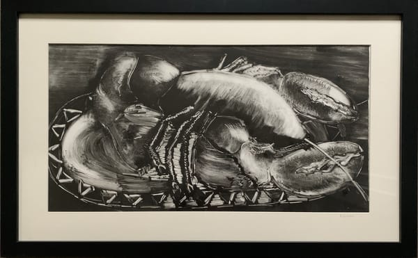 """Lobster"" Original Monotype Work on Paper"