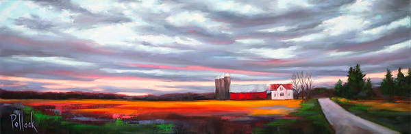 November Horizon original oil painting | Sarah Pollock Studio
