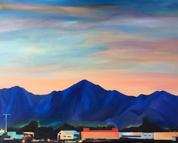 """""""McDowell Mountains"""" Original Oil Painting by Emily Gilman Beezley"""