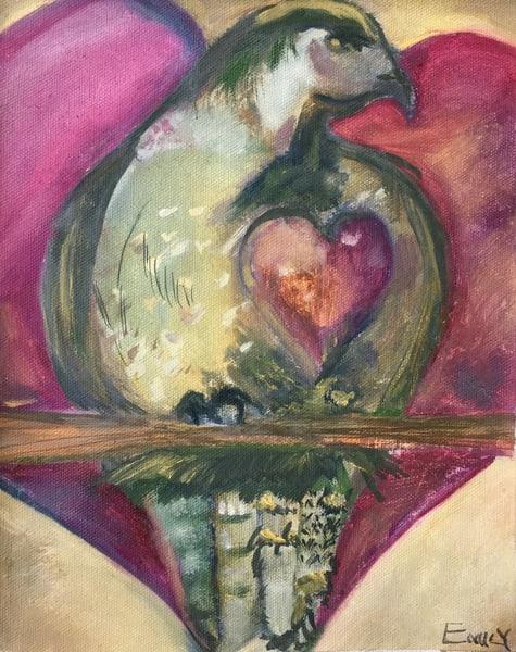 Valentine Bird Art | Emily Gilman Beezley