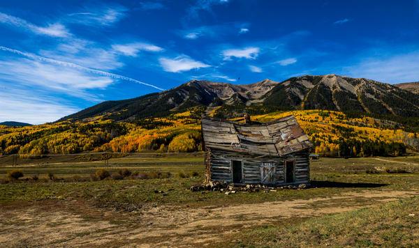 Crested Butte Colorado Old Barn In Fall Colorso