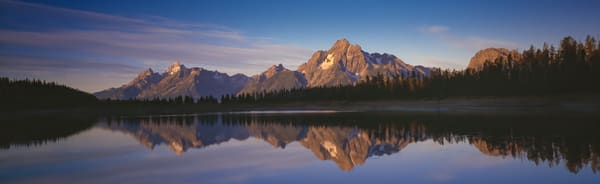 Fine Art Print | Mt Moran of the Teton Range and Reflection in Colter Bay