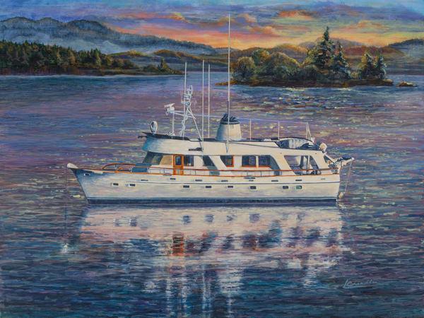 Yacht, sail, gift, west coast