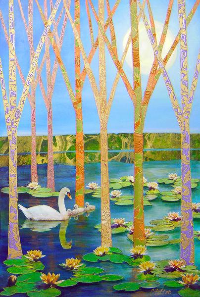 Swan Lake  Art   Channe Felton Fine Art