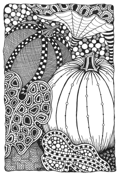 Alice in pumpkinland fine art print