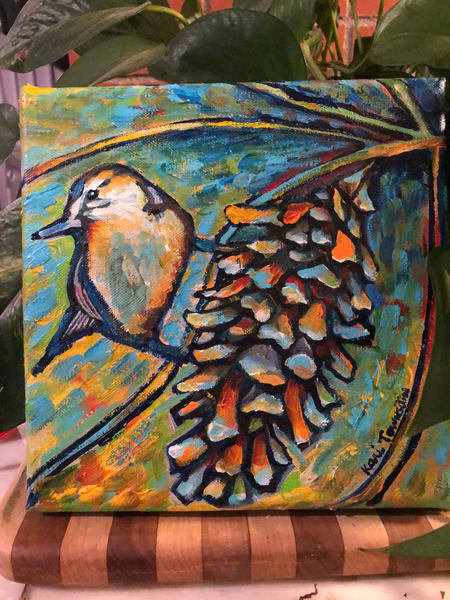 Nuthatch Pine Cone | Kari Townsdin