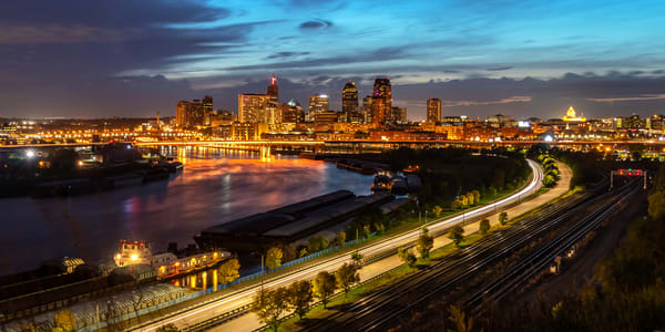 The City Of St Paul At Dusk Photography Art | William Drew Photography