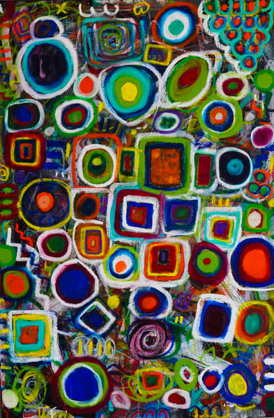 Circle And The Square Art | Abstraction Gallery by Brenden