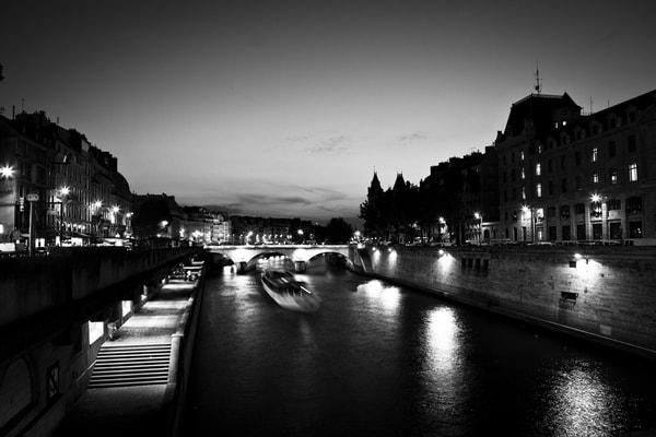 The Seine (Black & White) Photography Art | Jordan-Lee Garbutt