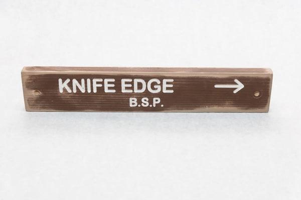 Knife Edge Baxter State Park Trail Sign | http://www.mooseprintsgallery.com