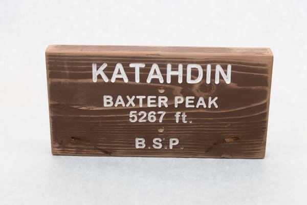Katahdin Baxter Peak State Park Trail Sign | http://www.mooseprintsgallery.com