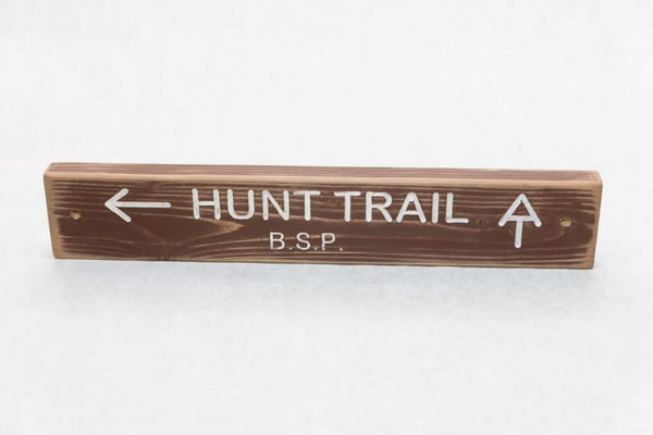 Hunt Trail Baxter State Park Trail Sign | http://www.mooseprintsgallery.com