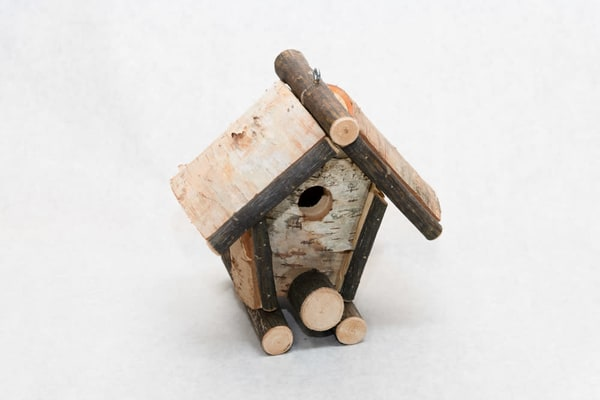 Birch Bird House   A Frame | http://www.mooseprintsgallery.com
