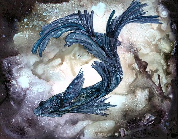 Swirl Blue   8 X10 Print Art | Heidi Stavinga Studio