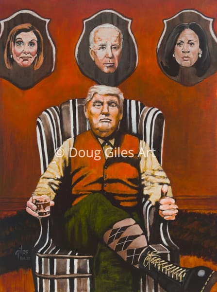 Trump Enjoying His Victory Art | Doug Giles Art, LLC