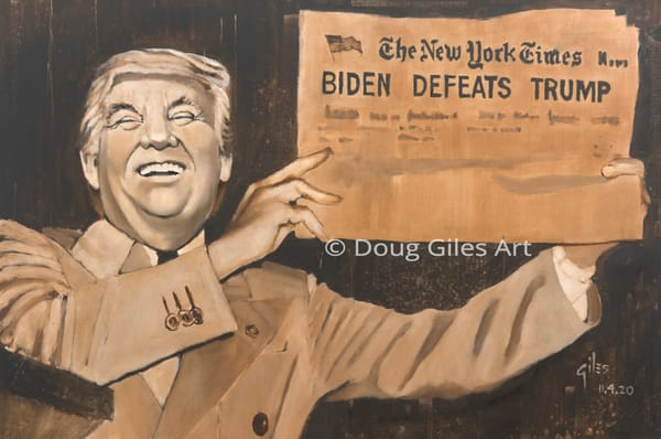 Biden Defeats Trump Art | Doug Giles Art, LLC