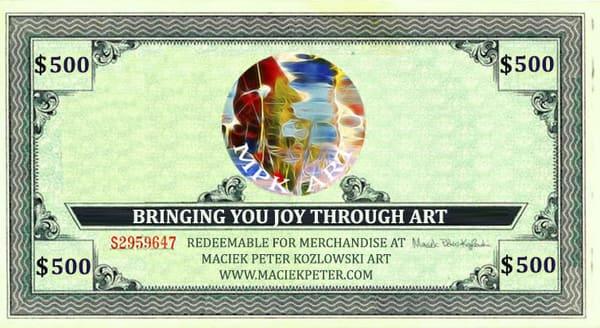 $500 Gift Card | Maciek Peter Kozlowski Art