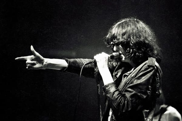 Joey Ramone of The Ramones, at The Venue