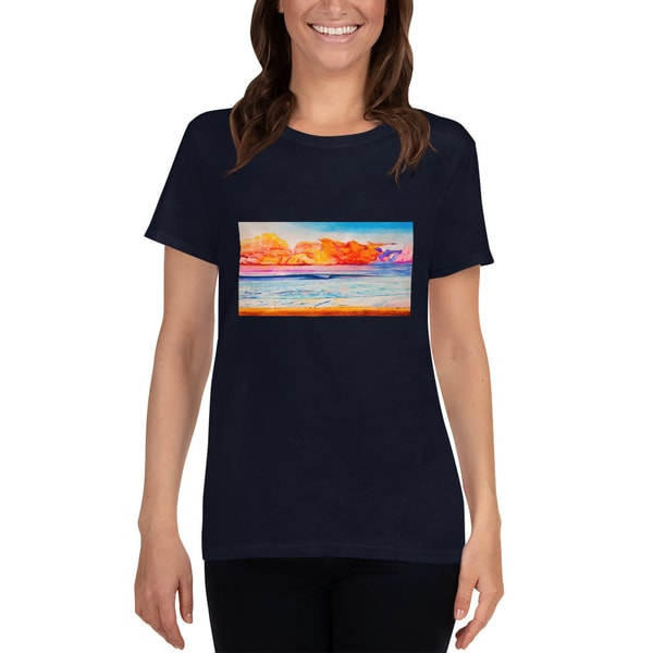 Psychedelic Wave Womens T Shirts   CruzArtz Fine Arts