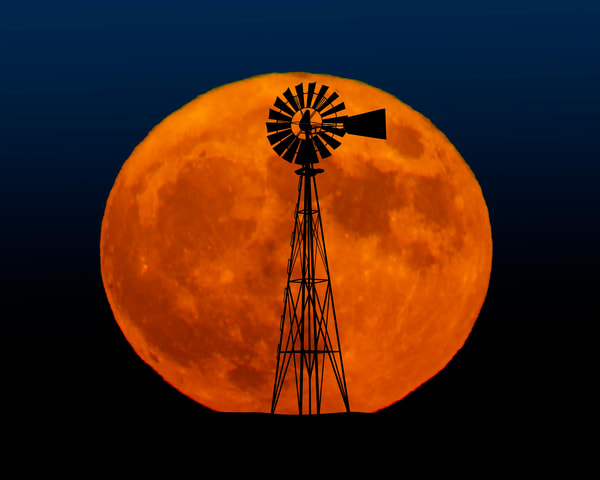Harvest Time Moon Rise Photography Art   Jim Livingston Art