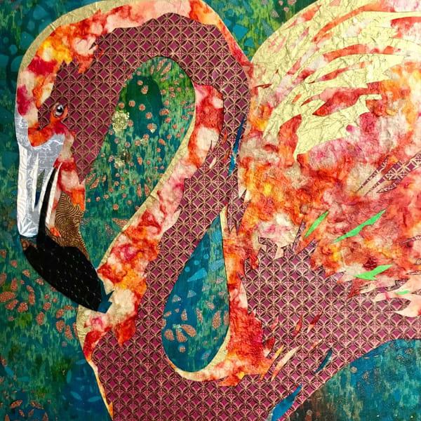 Pink Flamingo  Art   Kristi Abbott Gallery & Studio