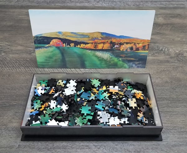 VERMONT HILLS IN AUTUMN - PUZZLE