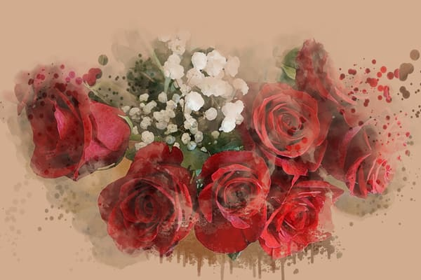 Red Roses  Art   Art from the Soul