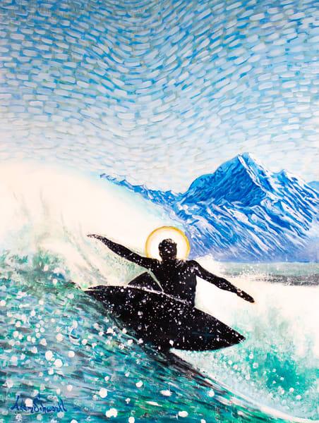 The Saintly Surfer  Art   Adam Schwankl
