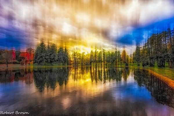 """Abstract Fall""~ Kiwanis Lake Photography Art | Inspired Imagez"