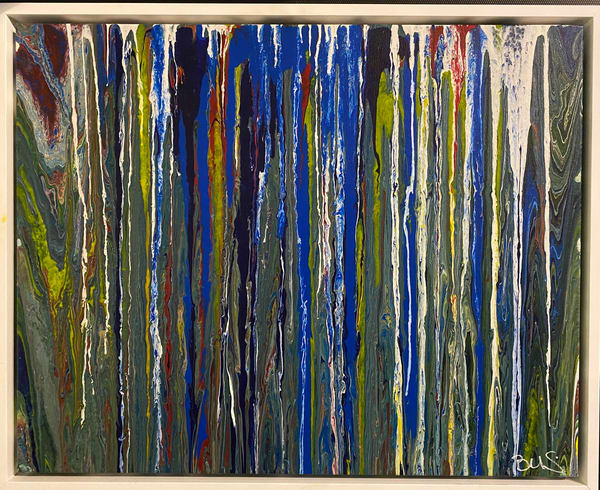 Through A Waterfall Art | Abstraction Gallery by Brenden