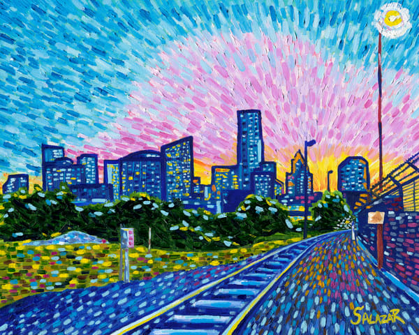 Sunset From Mc Kee St. Art | War'Hous Visual Art Studio