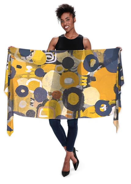 Golden Treasure Scarf | Abstraction Gallery by Brenden