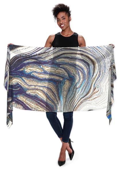 Azul Scarf | Abstraction Gallery by Brenden