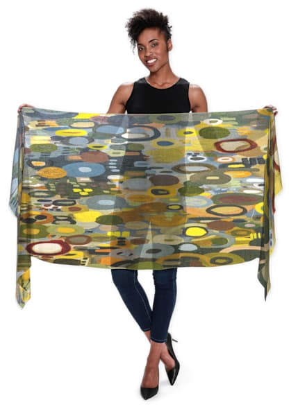 City Lights Reflection Scarf | Abstraction Gallery by Brenden
