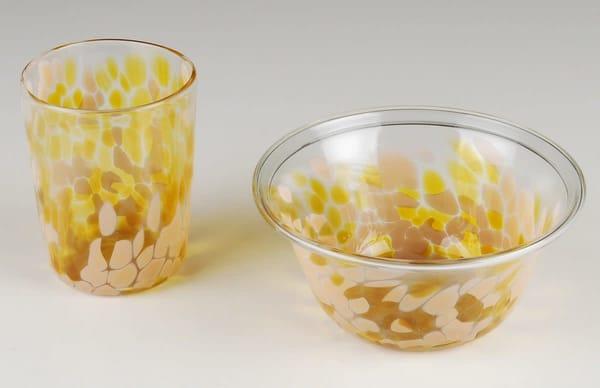 Bowl And Tumbler, Child's Set | Ed Pennebaker, Red Fern Glass