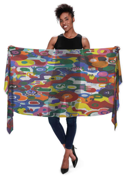 We All Are One Scarf | Abstraction Gallery by Brenden