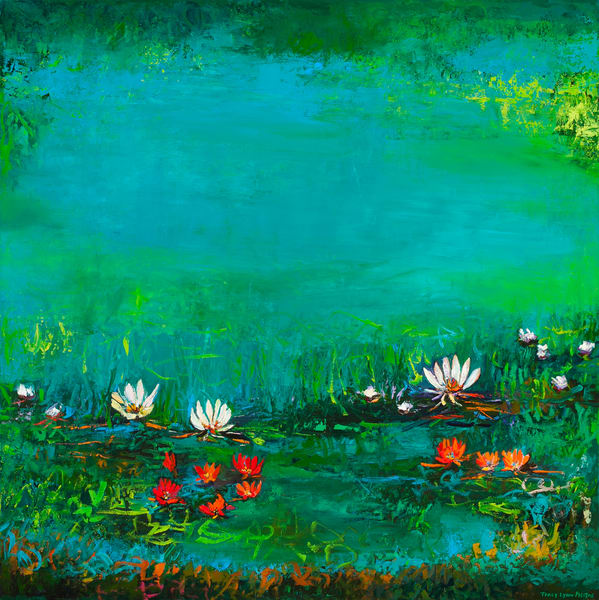 White Lotus Flower Canvas Wall Art