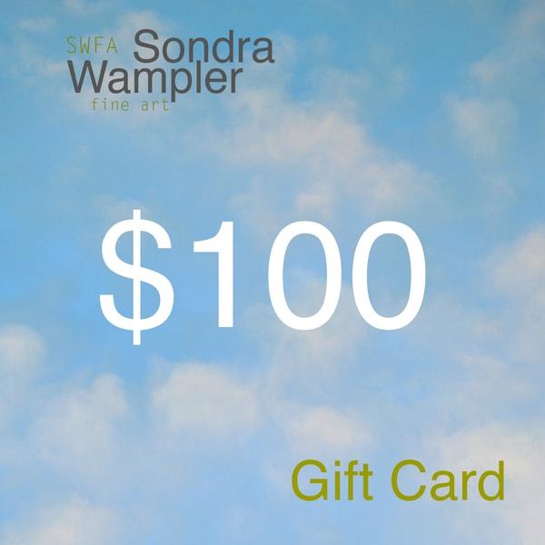 $100 Gift Card | Sondra Wampler | fine art