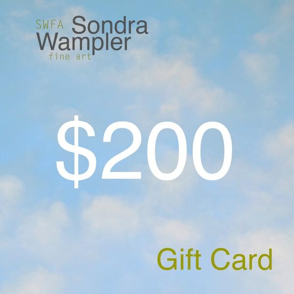 200$ Gift Card | Sondra Wampler | fine art