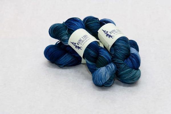 Hand Dyed Maine 100% Marino Wool Yarn   Woods And Waters | http://www.mooseprintsgallery.com