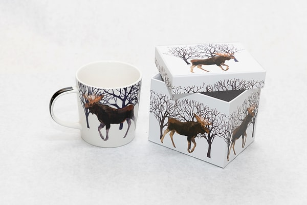 Gift Boxed Moose Coffee Cup | http://www.mooseprintsgallery.com