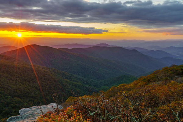 Craggy Mountain, North Carolina Sunset Wall Art McClean Photography
