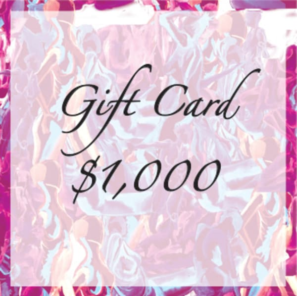 $1,000 Gift Card | Susan Searway Art & Design
