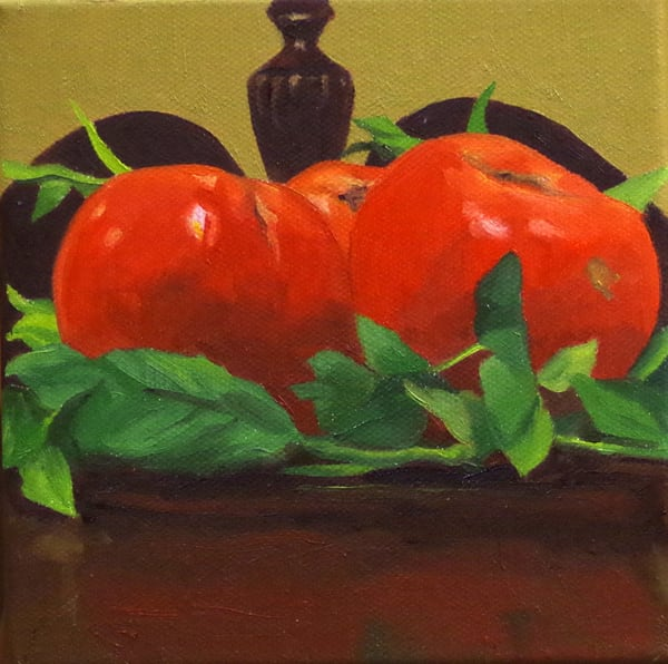 Tomatoes On A Sideboard Art | Helen Vaughn Fine Art