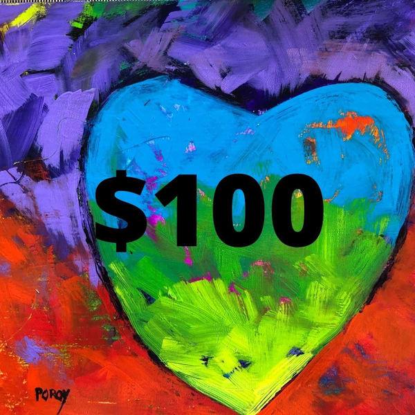 $100 Gift Card | PoroyArt